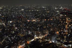 都庁ビル夜景・西