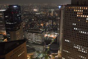 都庁ビル夜景・北