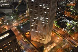 都庁ビル夜景・北東