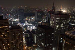 都庁ビル夜景・南東