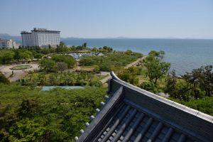 長浜城・琵琶湖