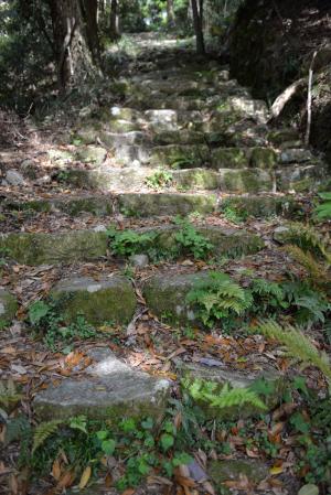 観音寺城・本丸への階段