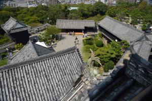 高知城・天守からみた風景