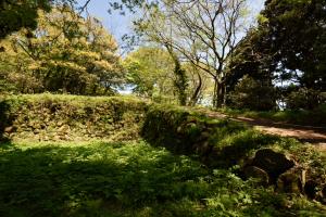 七尾城・二之丸の石垣