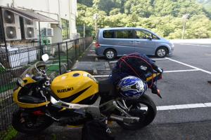 日光駐車場のバイク