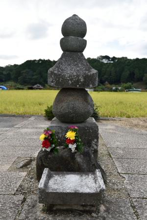 飛鳥寺・蘇我入鹿の首塚