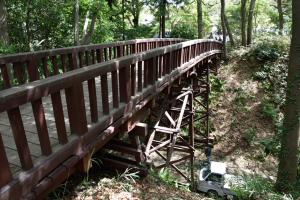 滝山城・木橋