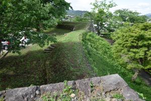 臼杵城・会所櫓跡からの眺め