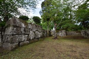 臼杵城・鉄門櫓跡付近