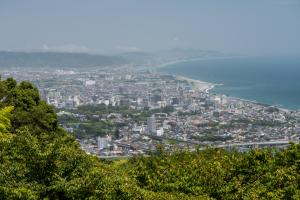 石垣山城・本丸展望台からの眺め