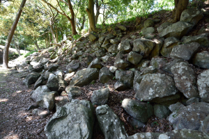 石垣山城・西曲輪周辺の石垣