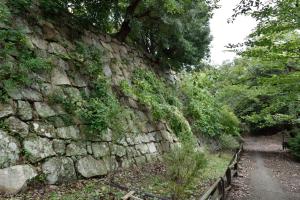 明石城・本丸北の石垣