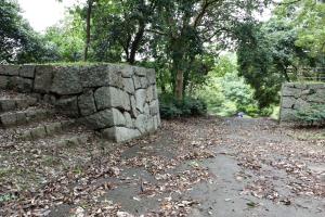 明石城・稲荷曲輪北の虎口