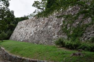 明石城・稲荷曲輪南側の石垣