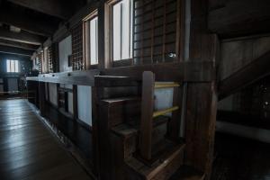姫路城・天守内部・4階・石打棚