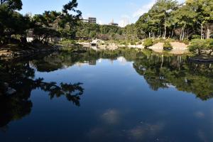 縮景園・濯纓池
