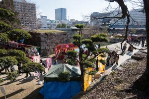 広島城・中御門跡付近