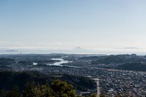 岩国城・ケーブルカー山頂駅からの眺め
