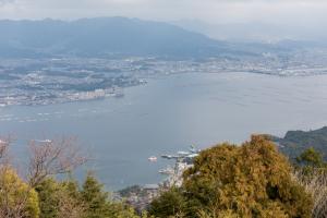 弥山・山頂からの眺め