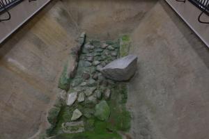太宰府展示館・玉石敷の溝