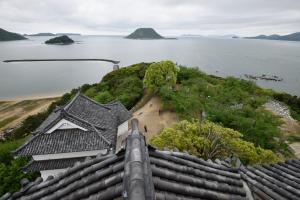 唐津城・天守最上階からの眺め