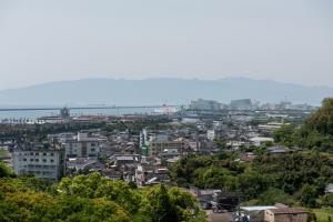 志布志城・本丸下段からの眺め