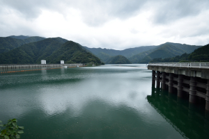 小河内ダム・第2取水施設付近