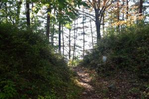 要害山・正面側の門跡