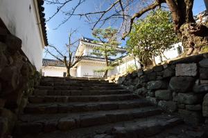 岸和田城・櫓門付近