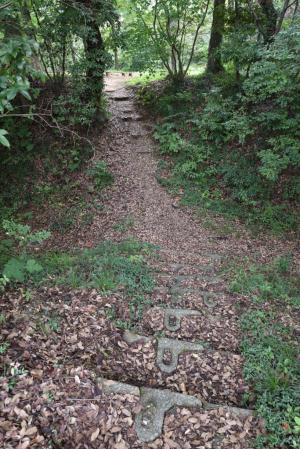 唐沢山城・杉曲輪と北城の間の堀