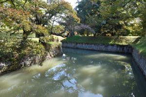 龍岡城・大手門付近の水堀