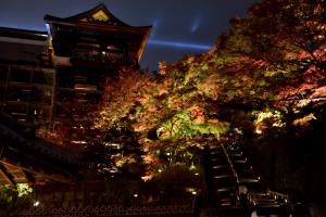 清水寺ライトアップ・本堂