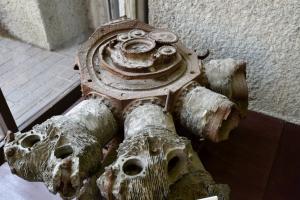 青梅市郷土博物館・B29のエンジン