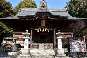 青梅・住吉神社・拝殿