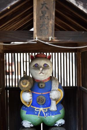 青梅・住吉神社・大黒天猫